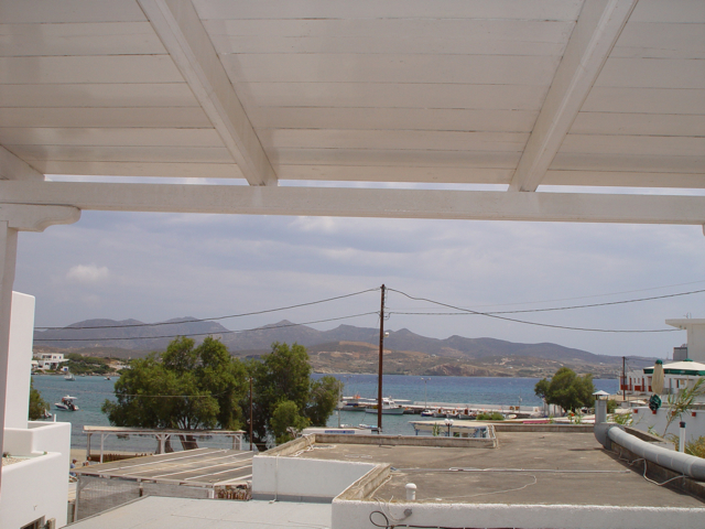 view from our rooms at Pollonia Milos Greece